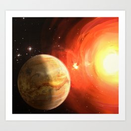 Planet Venus Art Print