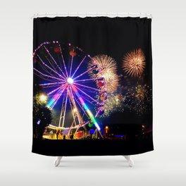 Fireworks & Ferris Wheels Shower Curtain