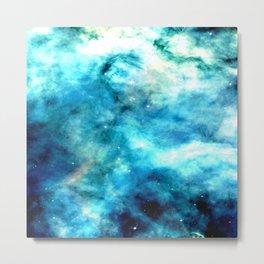 Ocean Blues Nebula galaxy Metal Print