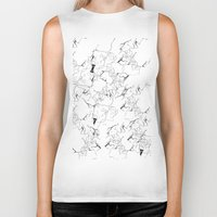 white marble Biker Tanks featuring Marble by Make-Ready
