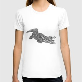alligator-tangle T-shirt