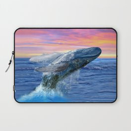 Breaching Humpback Whale at Sunset Laptop Sleeve