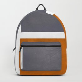 Grey Yellow Ochre Rothko Minimalist Mid Century Abstract Color Field Squares Backpack