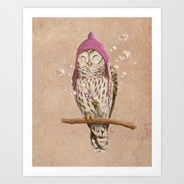 Happy Owl Kunstdrucke