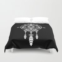 cosmic Duvet Covers featuring Cosmic Dreamcatcher by Picomodi