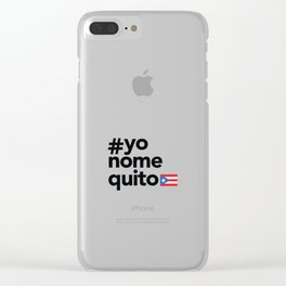 #yonomequito Clear iPhone Case