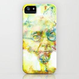 HENRIK IBSEN - watercolor portrait iPhone Case