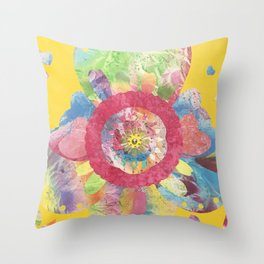 FlowerWaltz03 Throw Pillow