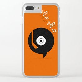 Music Speaks Clear iPhone Case