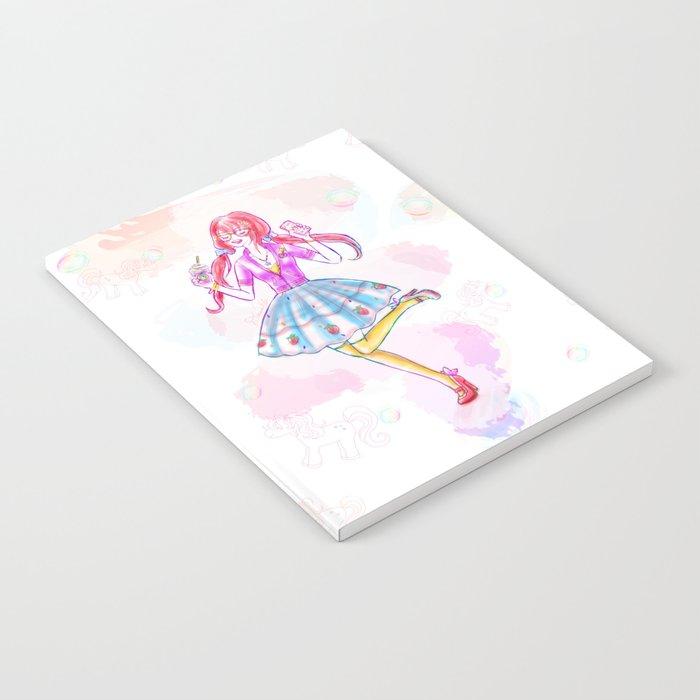 Pastel Unicorn Frap Girl Notebook