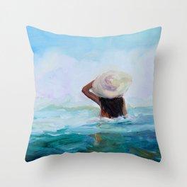 Private Beach Throw Pillow