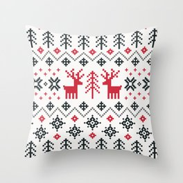 HOLIDAY SWEATER PATTERN Throw Pillow