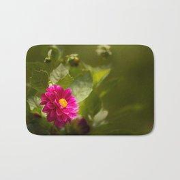 Dark Pink Dahlia in the Garden Bath Mat