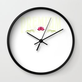 Premium Roommate | Best Roommate - Red lotus flower Wall Clock