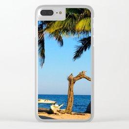 Windsurf Beach Clear iPhone Case