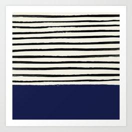 Navy x Stripes Art Print