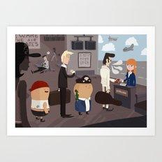 Beware the air pirates Art Print