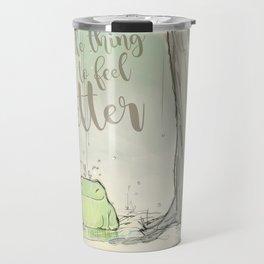 The frog under the rain 2 Travel Mug