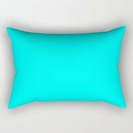 solid colour neon blue Rectangular Pillow
