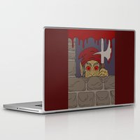 kindle Laptop & iPad Skins featuring Peeking Redcap by Richard Fay