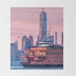 NYC Staten Island Ferry Throw Blanket