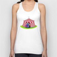clown Tank Tops featuring Clown by Maestral