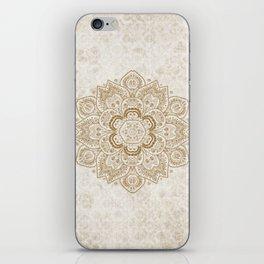 Mandala Temptation in Cream iPhone Skin