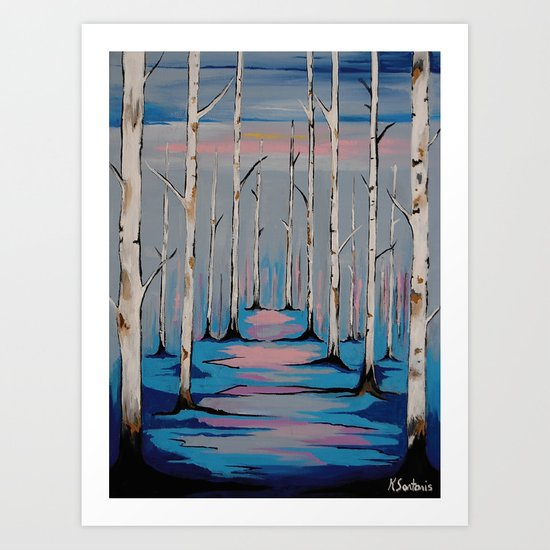 Nature and the Blues Art Print