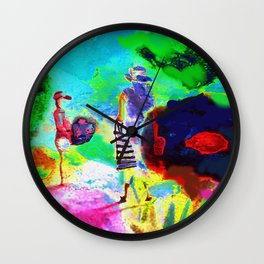Dans un jardin Wall Clock