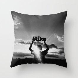 #Like - Hashtag Project Throw Pillow