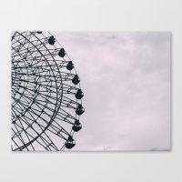 kobe Canvas Prints featuring Kobe Ferris Wheel by ambivalentpress