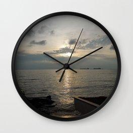 Dawn at Lake Maracaibo - November 11th, 2013 Wall Clock