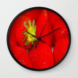 Strawberry Extravaganza Wall Clock