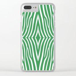 Kelly Green Zebra Clear iPhone Case