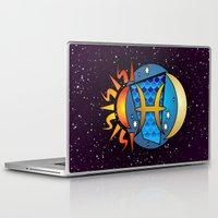 astrology Laptop & iPad Skins featuring Astrology, fish by Karl-Heinz Lüpke