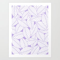 Leaves in Lavender Art Print