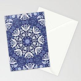Blue snow pattern Stationery Cards