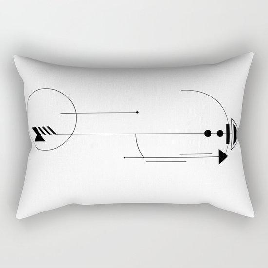 Geometric Arrow Rectangular Pillow