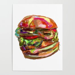 Hamburger Rainbow Poster