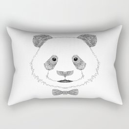 Panda head with bow Rectangular Pillow