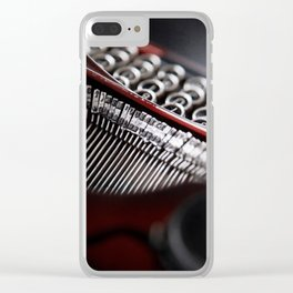 Typewriter Angled Clear iPhone Case