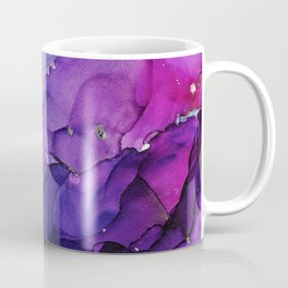 Violet Storm - Abstract Ink Coffee Mug