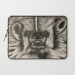 Badger Bad Original b/w ink Laptop Sleeve