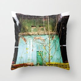 Nature finds the way inside... and outside... Throw Pillow