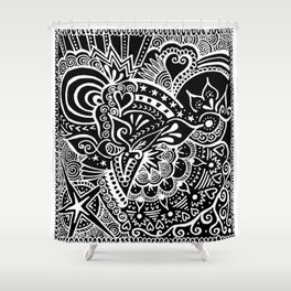 Rebirth Zentangle Shower Curtain
