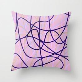 Doodle pink Throw Pillow