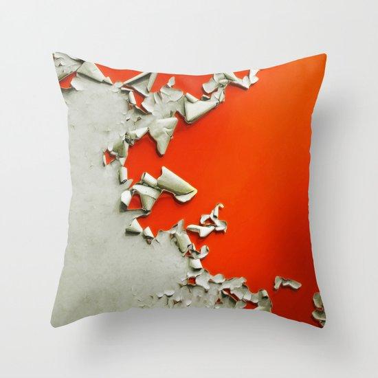 Orange Paper Peel Throw Pillow