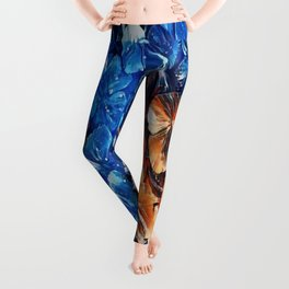 Bold and Beautiful Floral Abstract Leggings
