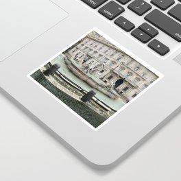 3 legged man in Piazza Navona Rome Italy Sticker