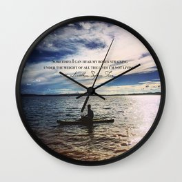 All the Lives I'm Not Living Wall Clock